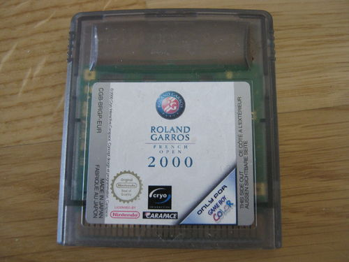 ROLAND GAROSS FRENCH OPEN 2000 für NINTENDO GAMEBOY COLOR