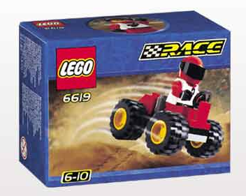 Lego Race 6619 Red Four Wheel Driver