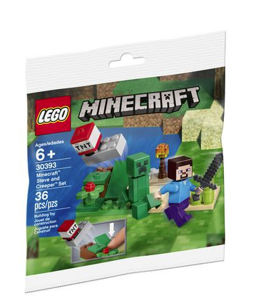 Lego Minecraft 30393 Steve and Creeper Polybag