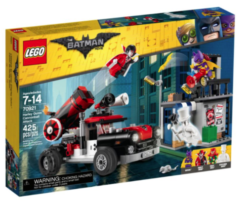 Lego Batman Movie 70921 Harley Quinn Kanonenkugelattacke