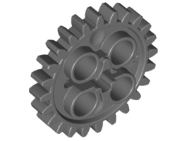Gear Wheel Z24 Dark Stone Grey