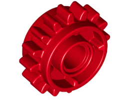 Gear Wheel Z16 W. Ø.4,85 Red