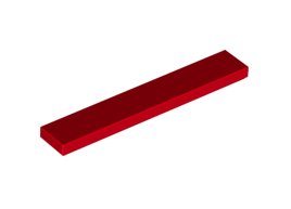 Flat Tile 1X6 Bright Red