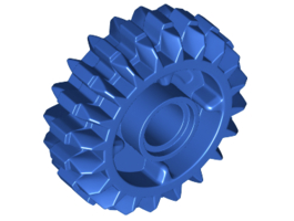 Angled Gear Wheel Z20, W/ 4.85 Hole Blue