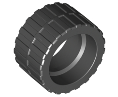 Tyre Low Wide Ø24 X 14 Black