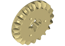 Bevel Gear Z20 Brick Yellow
