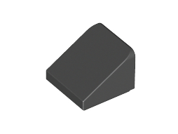 Roof Tile 1X1X2/3, Abs Black