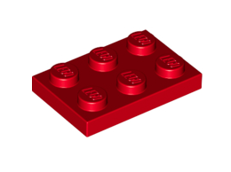 Plate 2X3 Bright Red