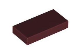 Flat Tile 1X2 New Dark Red