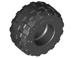 TYRE BALLOON WIDE Ø 24x12 Black