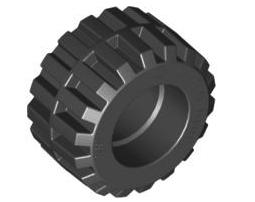TYRE NORMAL WIDE Ø21 X 12 Black